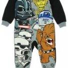 STAR WARS Boy's 3T, 4T OR 5T Character Fleece Footed Pajama Blanket Sleeper