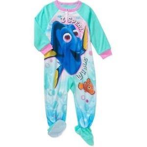 FINDING DORY NEMO Girl's 3T, 4T OR 5T Fleece Footed Blanket Pajama Sleeper