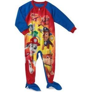 PAW PATROL Boys 3T, 4T, 5T Marshall, Chase, Everest Fleece Footed Pajama Sleeper