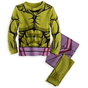 DISNEY MARVEL AVENGER INCREDIBLE HULK Costume Pajama Set, Size 5, 6, 7, 8 OR 10
