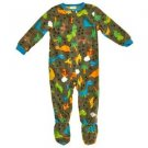 PEAS AND CARROTS Boy's 3T OR 4T Fleece Footed Dinosaur Dino Pajama PJ Sleeper