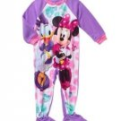 Minnie Mouse and Daisy Girls 2T, 3T, 4T, 5T Fleece Footed Blanket Pajama Sleeper