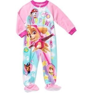 PAW PATROL SKYE Girl's 3T Fleece Footed Blanket Pajama Sleeper