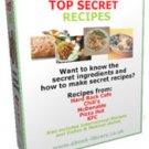 Top Secret Most Wanted Copy Cat Secret Recipes eBook