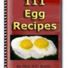 111 Incredible Edible EGG RECIPES eBook