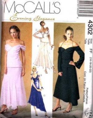 McCall's 4302    Very Romantic Dress Ensemble  Size 10-16
