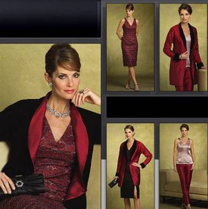 Vogue 8170 Elegant Dress Ensemble Pattern Size 20-24 OOP