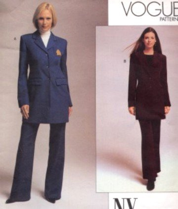 Vogue Pattern 2678 NY NY Pant Suit Size 12-16  OOP