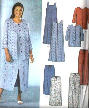 Simplicity Pattern 7102 Easy To Sew Dress Ensemble Size 26-32W (EUR 52-58 FR. 54-60)