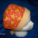 SURGICAL SCRUB CAP HAT PIXIE EASY FIT GINGERBREAD COOKIES CHRISTMAS