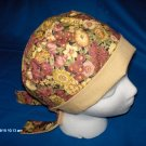 PIXIE SURGICAL MEDICAL SCRUB CAP HAT PRETTY FLOWERS