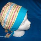PIXIE EASY FIT SURGICAL SCRUB CAP HAT PASTEL STRIPES