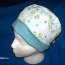 Cheap Scrubs Caps Hats Women's LITTLE SHEEP MOON & STARS ON LIGHT BLUE