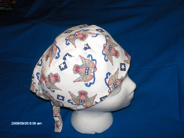 SURGICAL MEDICAL DOCTOR SCRUB HAT CAP MEN AMERICAN EAGLE