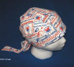 Skull Cap Bandana Do Rag Headwrap Bikers Tea Party Clothing  REPUBLICAN