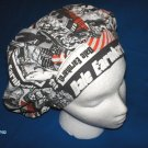 Ladies Cloth Reusable Surgical Caps Banded Bouffants DALE EARNHARDT #3