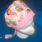 Pediatrics and Nursery Medical Scrub Caps DORA THE EXPLORER PINK