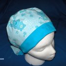 Nursery Scrub Cap Ladies  Pixie Tie-Back Hat IT'S A BOY