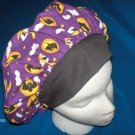 Surgical Scrub Hat Cap bouffant HALLOWEEN BATS AND MOONS