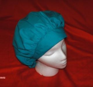 Ladies Nurses Scrubs Cap Banded Bouffant Hat SOLID TEAL
