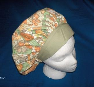 Ladies Halloween Scrub Caps Medical Surgical Hats Bouffants ALL THINGS FALL
