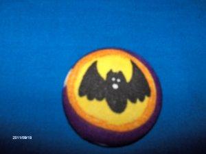 ID Badge Reel Retractable Handcrafted Fabric Covered Badges Seasonal HALLOWEEN BATS