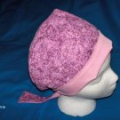 Ladies Scrubs Pixie Scrub Caps Surgical Medical Hat Hats PINK and Mauve Handcrafted