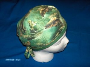 Mens Unisex Professional Hospital Surgery Caps Hats LOTS OF FISH GREEN