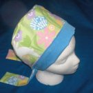 Ladies Pixie Scrub Caps Surgical Medical Hat Hats EASTER PASTEL BLUE