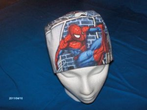 Mens Quality Unisex Scrub Hats for You Medical Caps SPIDERMAN
