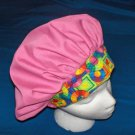 PRETTY PINK Ladies Womens Banded Bouffants Surgical Scrub Hats
