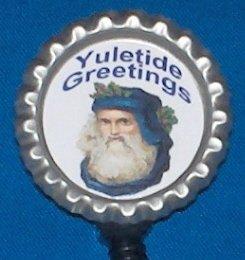 CHRISTMAS VICTORIAN SANTA Badge Reel ID Holder Epoxy Sealed Image