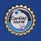 CARDIAC NURSE Handcrafted Retractable Badge Reel ID Holder Epoxy Sealed Image