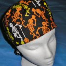 Mens Halloween Quality Unisex Scrub Hats for You Medical Caps Dancing Bones