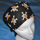 Mens Halloween Quality Unisex Scrub Hats for You Medical Caps PIRATES SKULLS