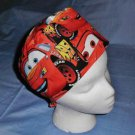 Mens Doctors Scrub Techs Quality Unisex Scrub Hats Medical Caps CARS RED
