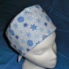 Mens Doctors Scrub Techs Quality Unisex Scrub Hats Medical Caps SNOWFLAKES