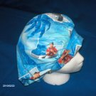 Ladies Scrubs Banded Bouffant Scrub Cap Surgery Medical Caps ELVIS PRESLEY BLUE HAWAII