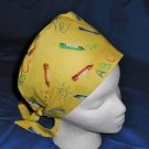 Fun Pediatric Nurses Scrubs Cute Comfy Hats Pixie Scrub Caps Surgical Cap Medical Hats CRAYONS
