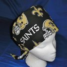 Ladies Nurses Scrubs Scrub Caps Cap  PIXIE TIE-BACK  NEW ORLEANS SAINTS