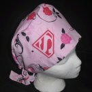 SUPER WOMAN Lots of Fabric Ladies Handcrafted Surgical Scrubs Scrub Caps Hats Medical Cap Pixie