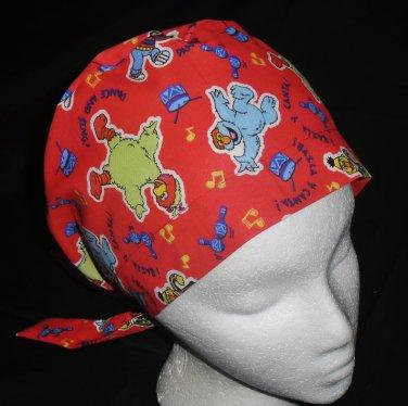 Pediatric Nurses Scrubs Cute Comfy Hats Pixie Scrub Caps Surgical Cap Medical Hats SESAME STREET