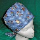 Blue Hens Reuseable Nurses Ladies Surgical Medical Scrubs Scrub Hat Pixie Tie Back Cap Hat
