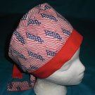 Ladies Scrubs Hats Pixie Cap Scrub Caps Surgical Medical Hat Hats American Flags