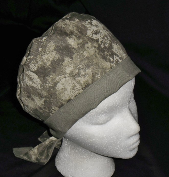 Ladies Womens Pixie Hats Surgical Medical Scrubs Scrub Cap Hat Handcrafted Fall Leaves