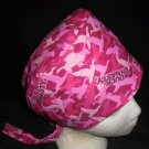 Ladies Womens Pixie Hats Surgical Medical Scrubs Scrub Cap Hat Handcrafted DUCK DYNASTY PINK