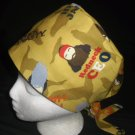 DUCK DYNASTY Faces Ladies Womens Pixie Hats Surgical Medical Scrubs Scrub Cap Hat Handcrafted