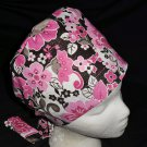 Ladies Nurses Scrubs Surgical Medical Scrub Caps Cap Pixie Hat Pink Glitter
