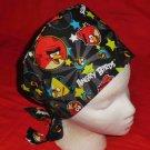 Angry Birds Black Hats For Women Ladies Nurses Surgical Scrubs Hats Scrub Caps Reusable Fabric Pixie