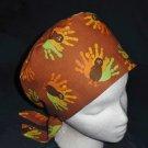 Thanksgiving Handprint Turkeys Nurses Scrubs Hat Ladies Hats Pixie Scrub Caps Surgical Cap